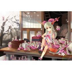 Papier peint chambre fille-Fille japonaise avec ses poupées