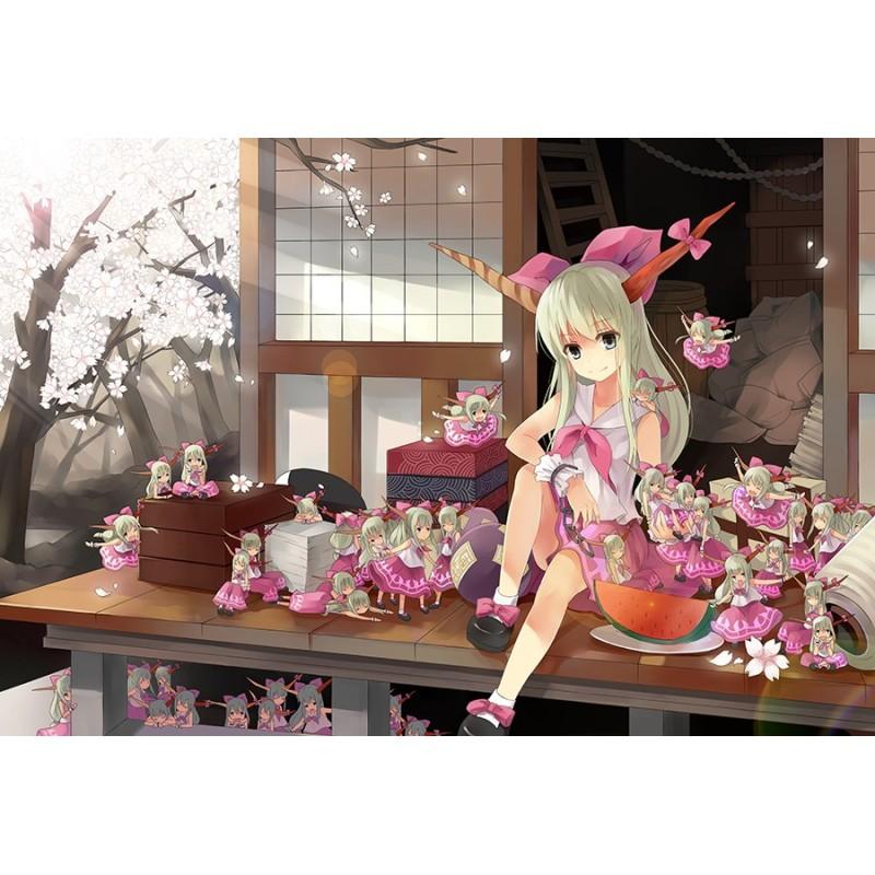 Papier peint japonais personnalisable fille japonaise avec - Papier peint chambre bebe fille ...