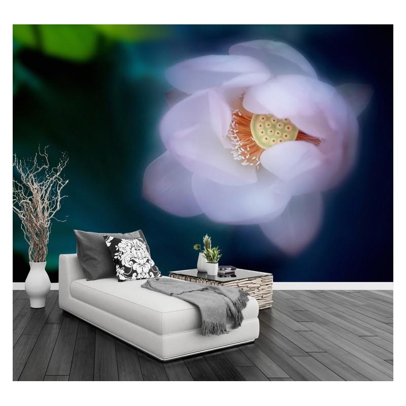 Decoration Murale Zen Papier Peint Intisse Fleur Tapisserie Lotus