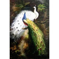 Les deux paons sur arbre 2