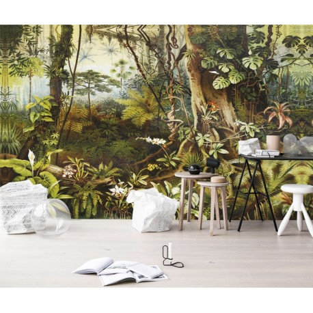 papier peint vinyle intiss tropical poster g ant sous bois plante jungle papier peint sol 3d. Black Bedroom Furniture Sets. Home Design Ideas