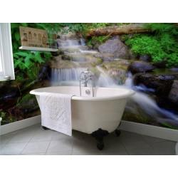 décoration murale magasin salle de bain panneau étanche imprimé - Chute d'eau