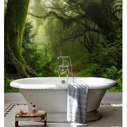 Panneau étanche décoratif imprimé salle de bain mur baignoire - Paysage de la forêt primaire