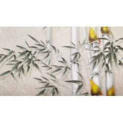 Tapisserie murale japonaise en fil de soie en un seul tenant
