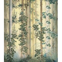 Papier peint d'artiste couleurs légères format vertical - Les plantes dans la forêt
