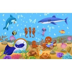 Papier peint chambre bébé-Fond marin 10