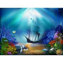 Papier peint chambre d'enfant-Fond marin 11