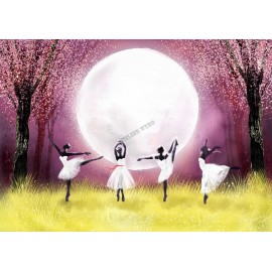 Papier peint romantique-Danse dans la nuit