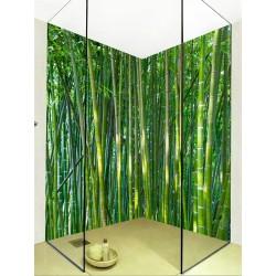 Revêtement mural étanche douche salle de bain - Forêt de bambou