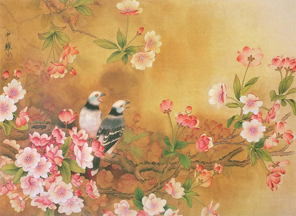 Papier Peint Ancien Fleurs