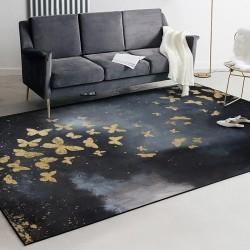 Tapis design romantique inspiration conte de fée - Papillons dorés s'envolent dans la nuit