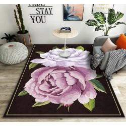 Fleurs mauves sur fond noir, couleurs dégradées