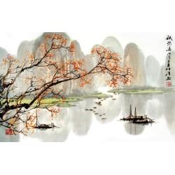 Papier peint asiatique - Paysage d'automne