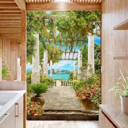 Salle de bains style méditerranéen - Terrasse sur le lac Majeur et les îles Borromées