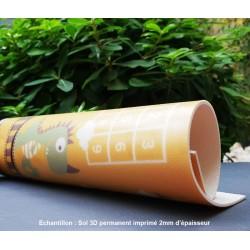 Revêtement sol PVC souple ignifugé, matière robuste et résistante. Imprimé sur mesure, qualité haute définition