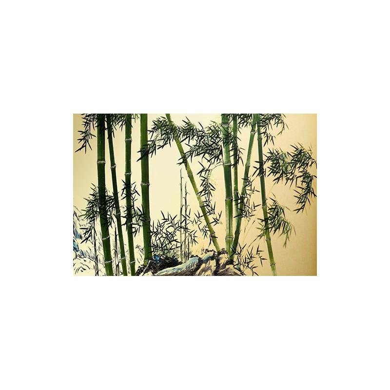 papier peint chinois chinese wallpaper Bambou 1   Papier peint Sol 3D