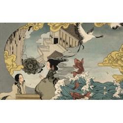 Papier peint japonais - La conteuse