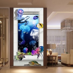 Tapisserie 3D Fond marin-Les méduses