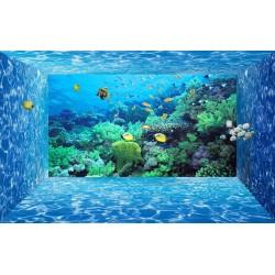 Papier peint 3D - Paysage fond marin effet aquarium