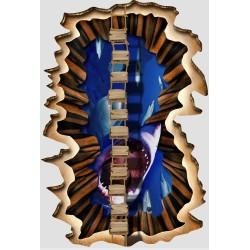 Revêtement sol trompe l'oeil effet 3D-Les requins2
