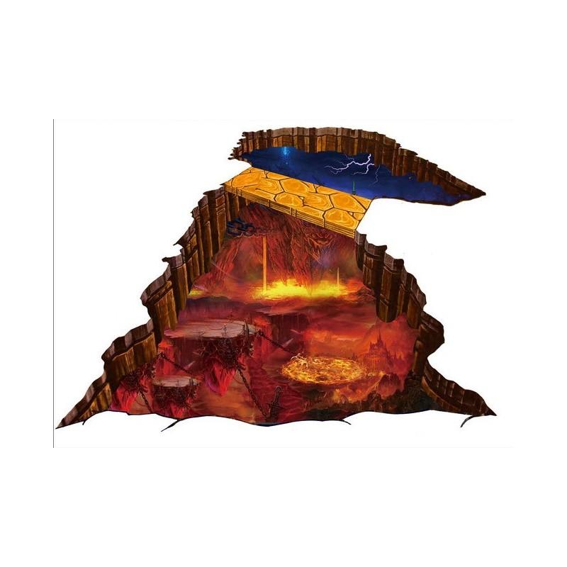 Rev tement sol trompe l 39 oeil effet 3d l 39 explosion du volcan - Trompe l oeil sol ...