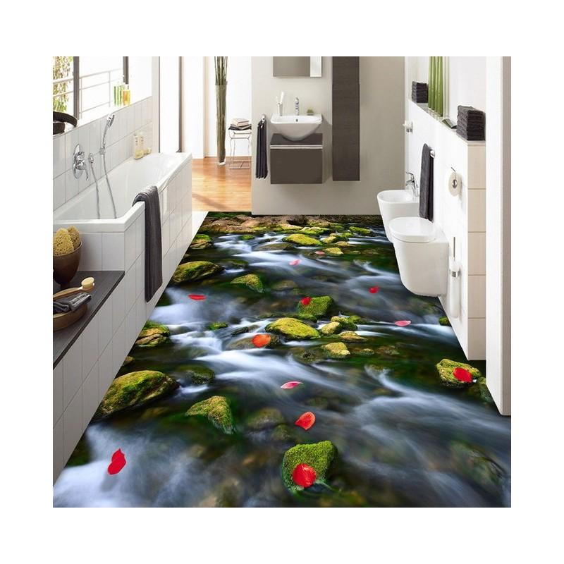 Rev tement sol romantique la pluie de p tales de rose sur for Dessin salle de bain 3d