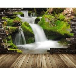 Papier peint 3D paysage - La cascade