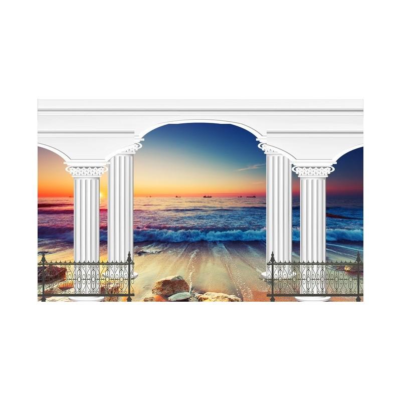 Papier peint personnalis romantique trompe l 39 oeil effet for Effet trompe l oeil