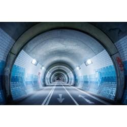Décoration murale trompe l'œil-Dans le tunnel
