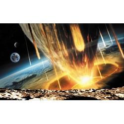 Décoration murale science-fiction - Chute des météorites