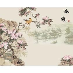 Tapisserie asiatique - L'annonce de printemps