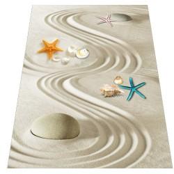 Revêtement de sol zen - Les coquillages sur sable blanc