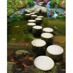 Revêtement de sol zen - Allée en pas japonais sur la rivière