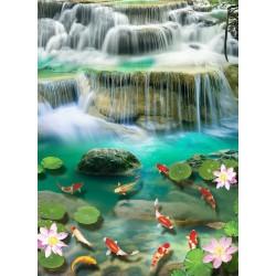 Revêtement de sol paysage - La cascades dans la forêt tropicale