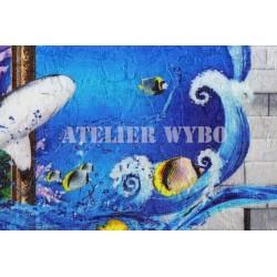 Tapisserie murale brocart de soie
