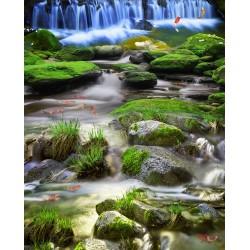 Revêtement de sol paysage - Cascade et rivière