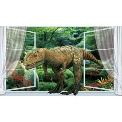 Papier peint tapisserie effet 3D spécial dinosaure - L'explorateur