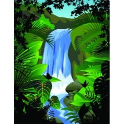Chute d'eau dans la forêt tropicale