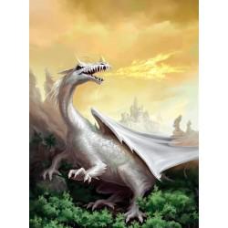 Tapisserie fantaisie - Le dragon blanc