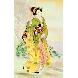 Papier peint japonais - Promenade en printemps