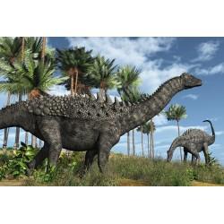 Papier peint tapisserie spécial dinosaure - Scène reconstituée - Les diplodocus