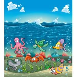 Dessin pour enfant - Animaux fond marin
