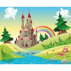 Dessin pour enfant - Château dans le pays imaginaire