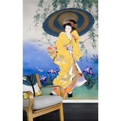 Papier peint japonais - Sous la pluie