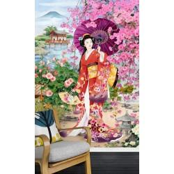 Papier peint japonais - Promenade dans le jardin en printemps