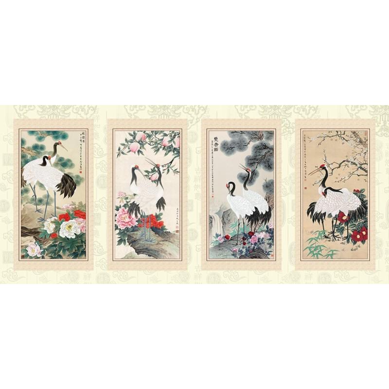 Peinture l 39 encre de chine papier peint asiatique - Tableau avec papier peint ...