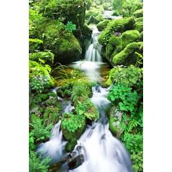 Revêtement de sol paysage - Chute d'eau dans la montagne