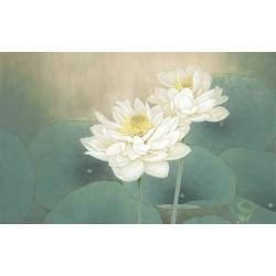 Peinture à l'encre de Chine - Les deux lotus blancs