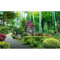 Papier peint photo paysage - Jardin paysagé