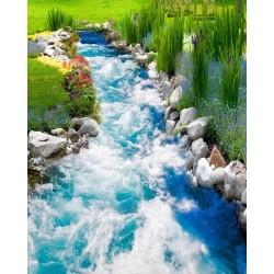 Revêtement de sol paysage - Petite rivière dans le jardin